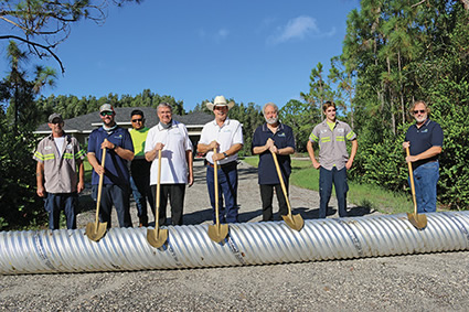 1000th Driveway Replacement Culvert Ceremony Held in Jupiter Farms